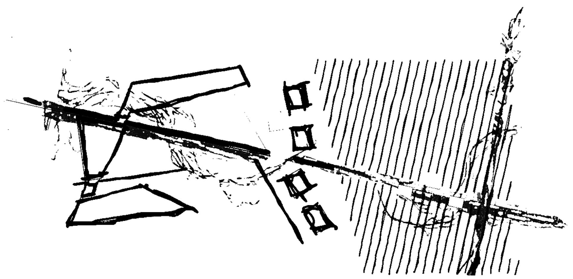 le fabbriche di natura. l'iter compositivo si è sviluppato in un progetto articolato sia in pianta che in alzato che ha assunto come orizzonte ideale il concetto della vite:come la vite si sviluppa lungo i tralci rimanendo un corpo unico, così il progetto si sviluppa liberamente nello spazio rimanendo sempre ancorato alle due direzioni di partenza che assicurano ordine ed unitarietà.