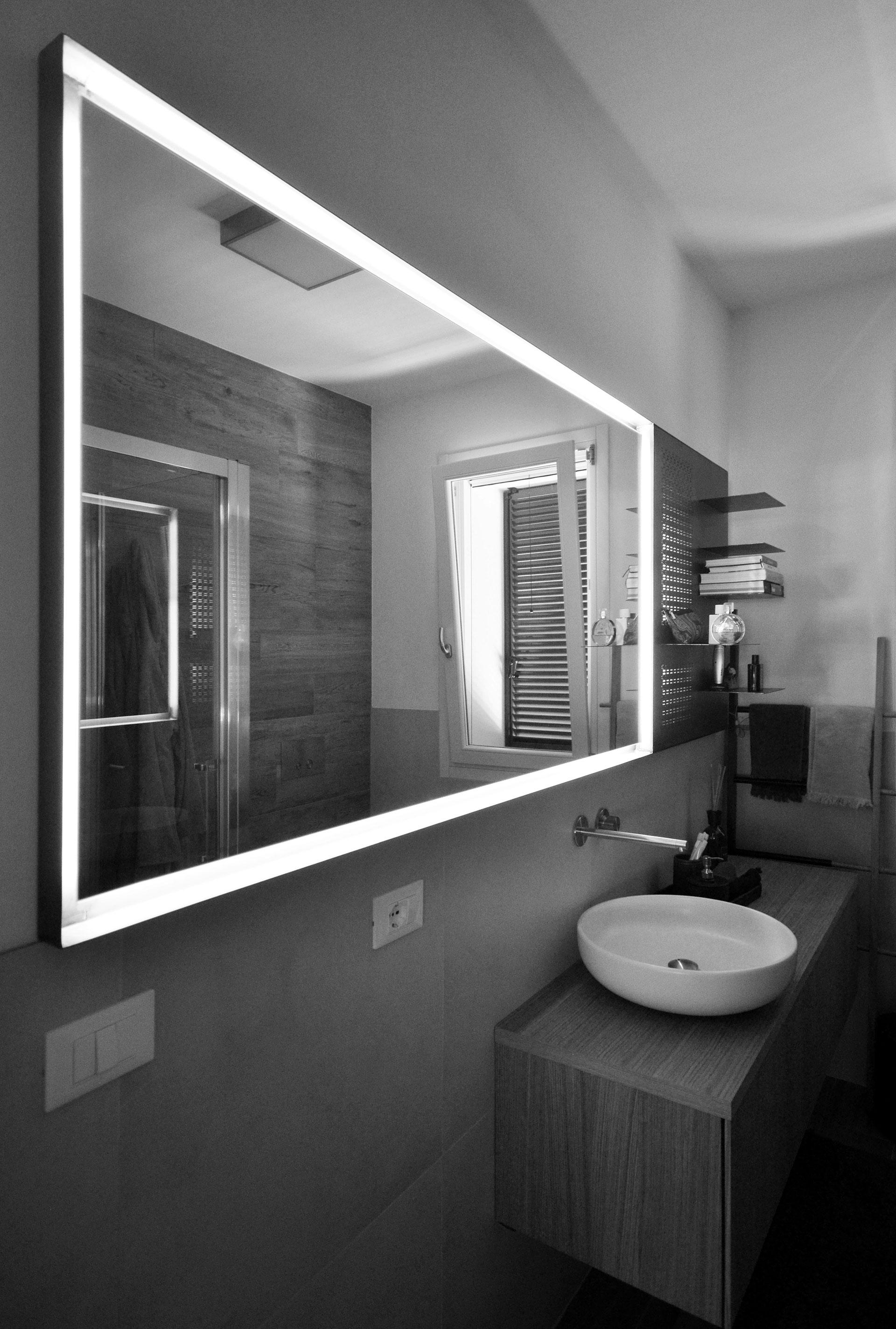 specchio. vista della parete intera