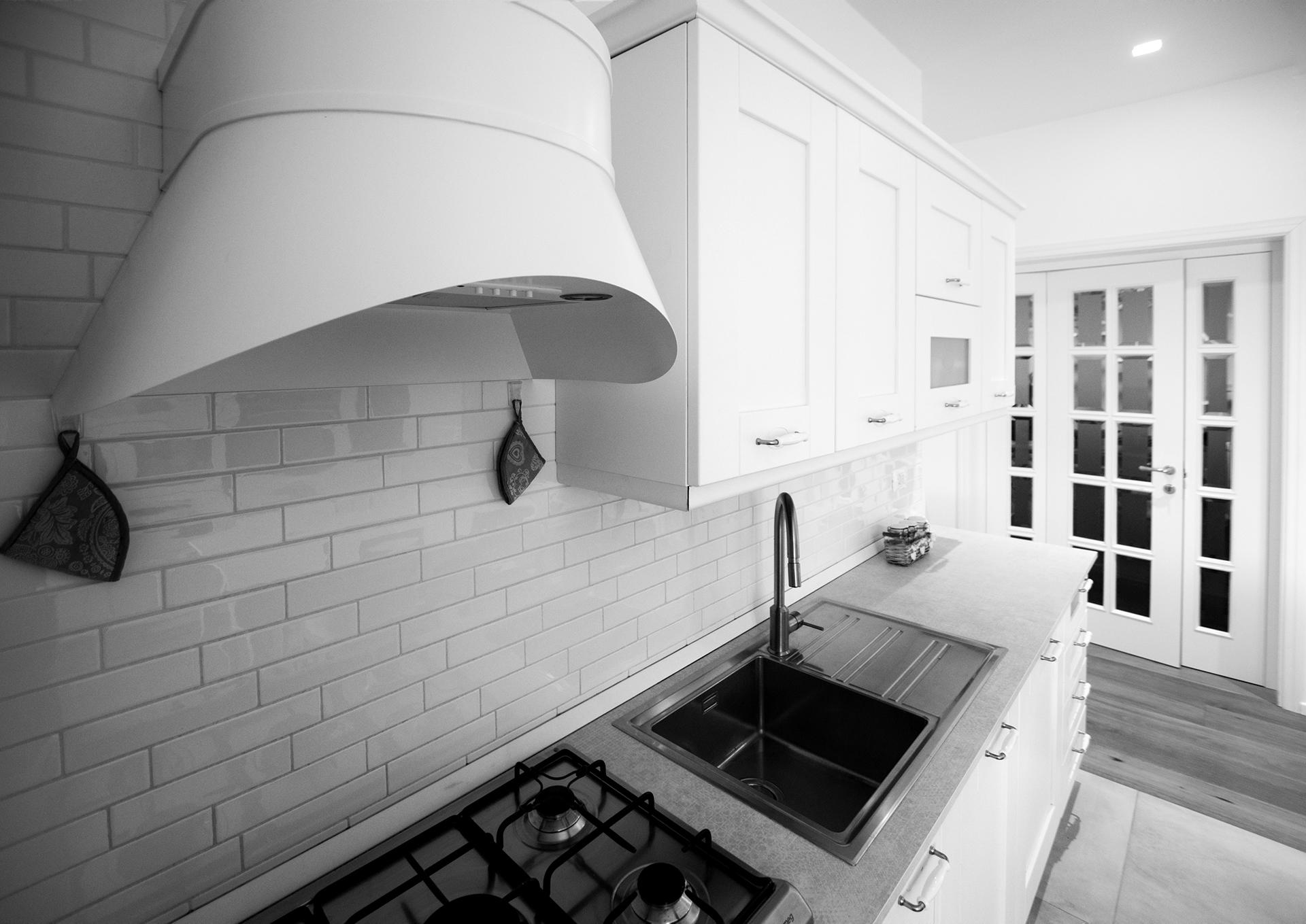 casa GR. dettaglio della cucina.