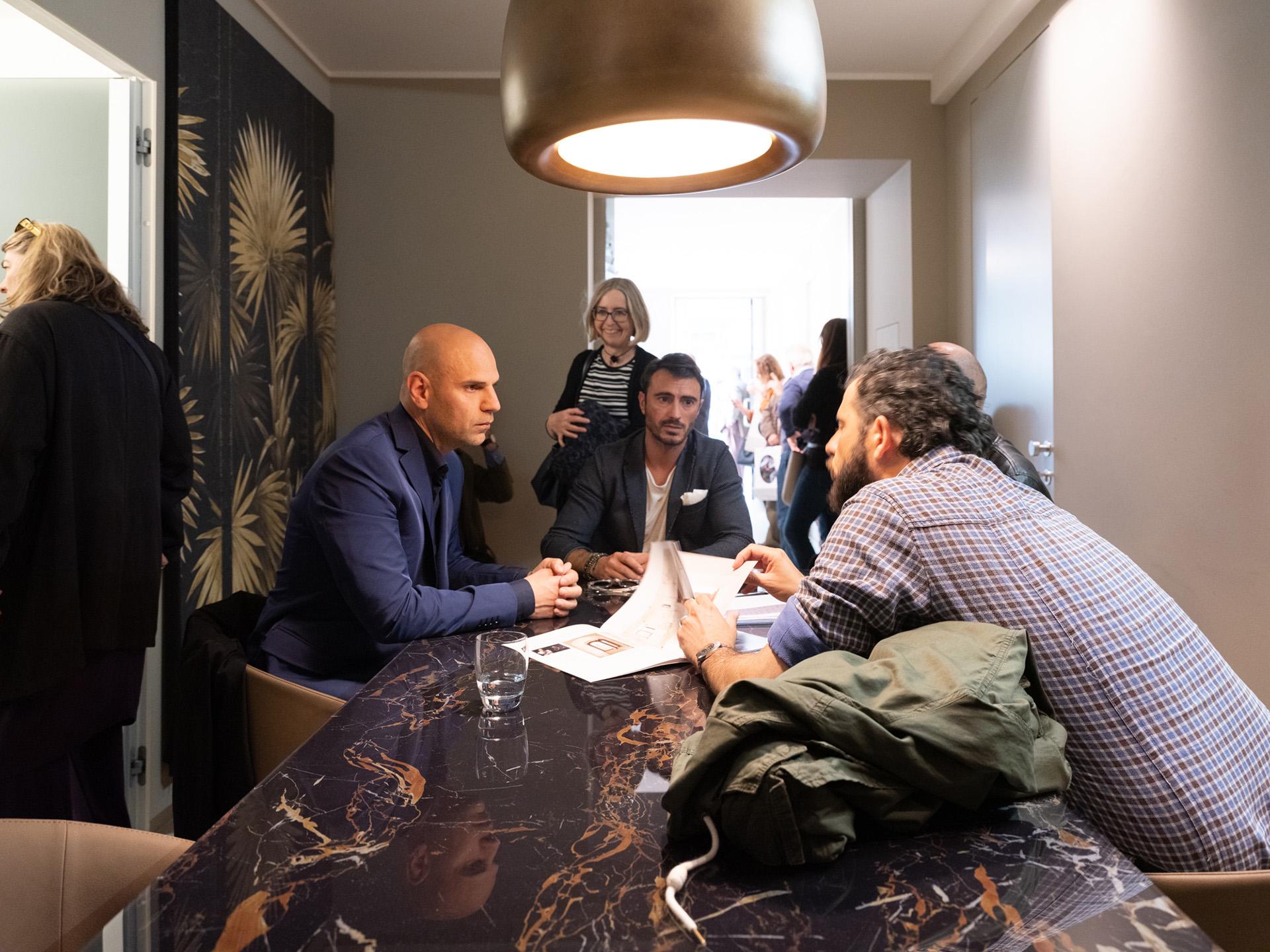Press Day - via Molino delle Armi 2A Milano - lancio eclisse 40 collection. Intervista ai designer Valentini Ponzelli