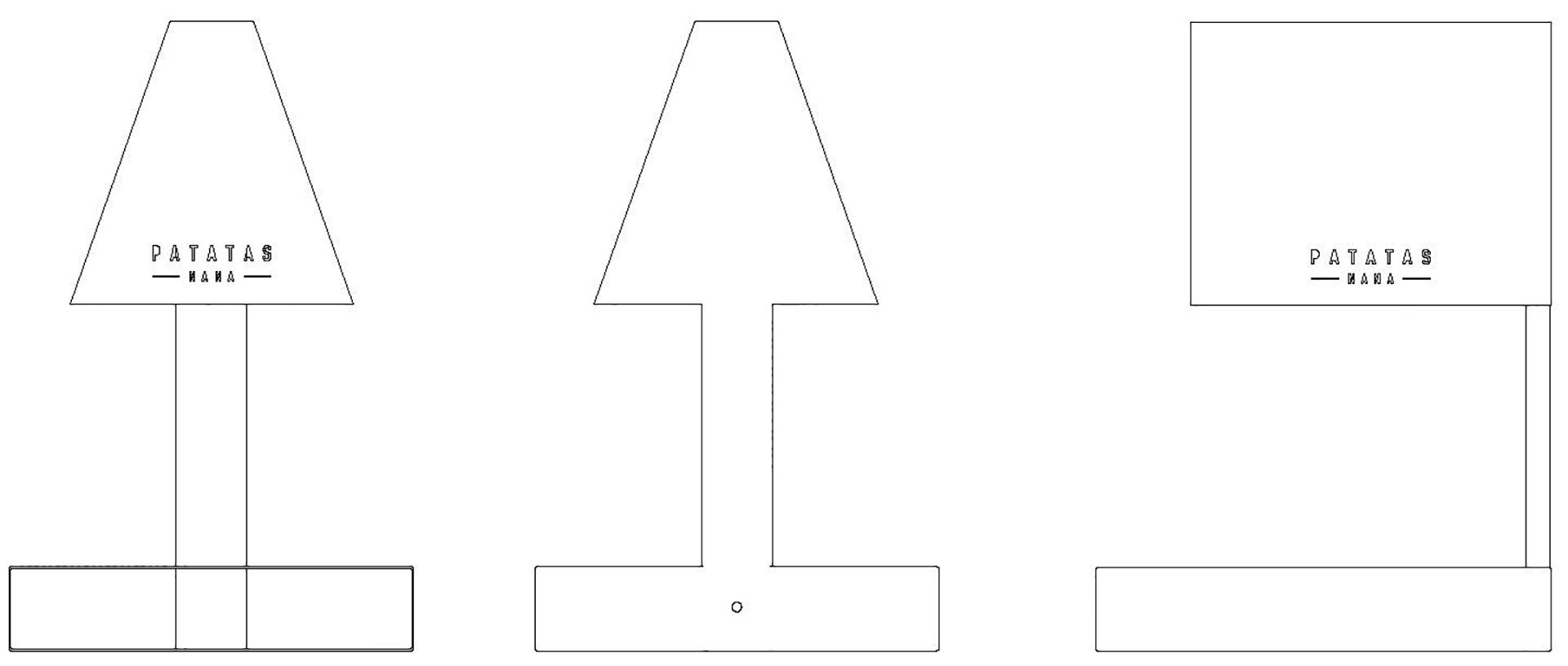 disegni tecnici della lampada